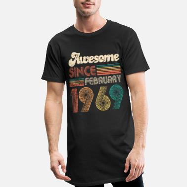 awesome since february 1969 February 50th birthday - Men's Long Body Urban Tee