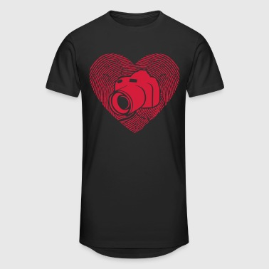 Camera - DSLR - SLR - photographer - heart - Men's Long Body Urban Tee
