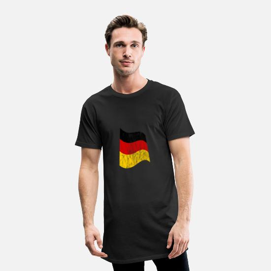 Federal Republic Of Germany T-Shirts - Flag Germany - Men's Long T-Shirt black