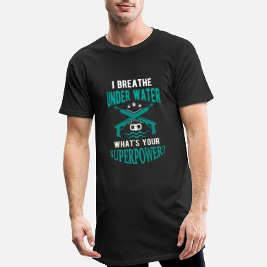 This Is Blue I breathe underwater what's your superpower? - Camiseta urbana para hombre