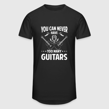You can never have too many guitars - rock band - Mannen Urban longshirt