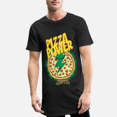 Tmnt TMNT Turtles Pizza Power Shield - Men's Long Body Urban Tee