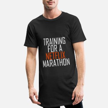Training Training for a Netflix Marathon - Men's Long T-Shirt