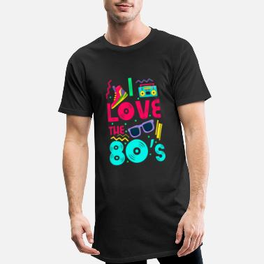 I love the 80s - cool and crazy - T-shirt long Homme