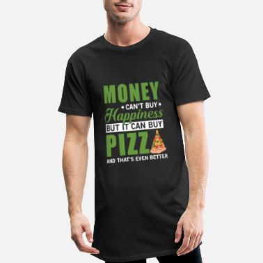 Napoli Money can't buy happiness but it can buy pizza - Men's Long Body Urban Tee