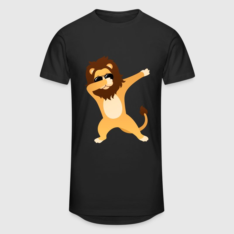 Dabbing Lion With Sunglasses - Cool Gift - Men's Long Body Urban Tee