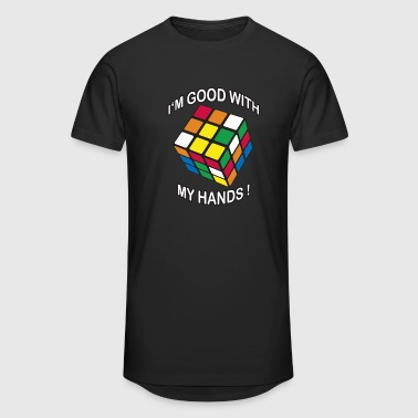 Rubik's Cube Quotes I'm Good With My Hands - Mannen Urban longshirt