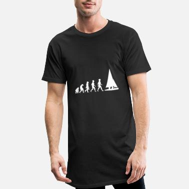 Evolution Evolution sailing sailboat sailing ship - Men's Long T-Shirt