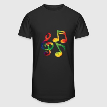 Notes de musique colorées - T-shirt long Homme