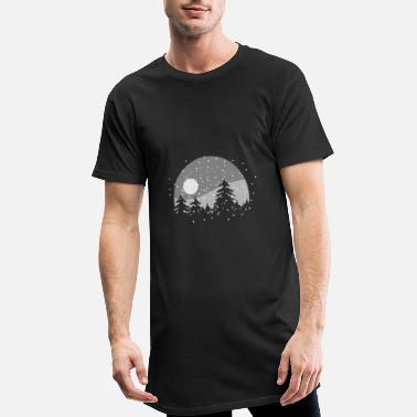 Forest Winter forest at night - Men's Long T-Shirt
