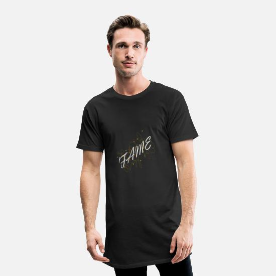 Gift Idea T-Shirts - white fame with asterisks - Men's Long T-Shirt black