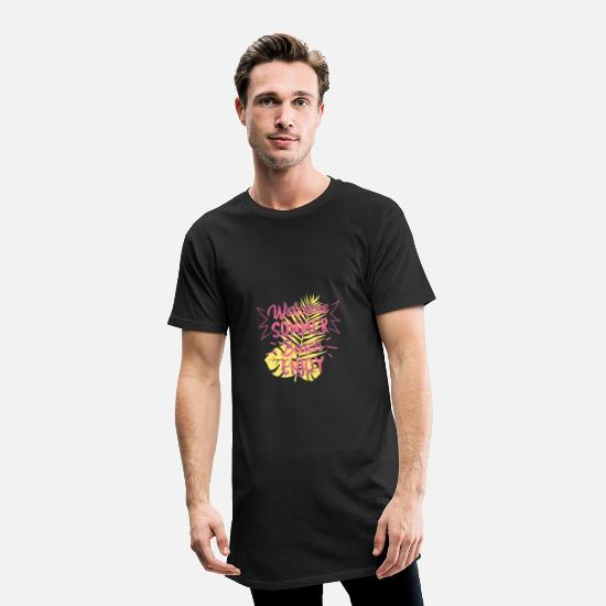 Summer T-Shirts - Welcome Summer Beach - Men's Long T-Shirt black