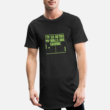 Video Game I'm so retro my balls are square - Men's Long Body Urban Tee