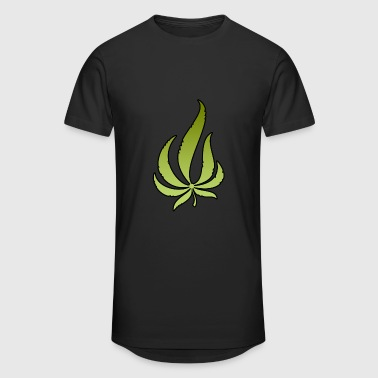 Pot Leaf - Men's Long Body Urban Tee