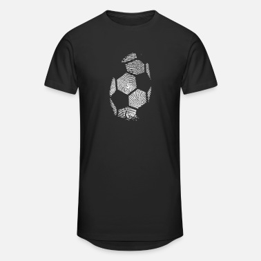 Europamester Fußball Fingerprint - Soccer Fingerprint -Team-DNA - Lang T-Shirt mænd