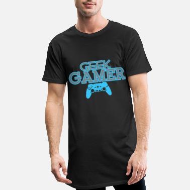 a3c656dd Geek Gamer Gaming Shirt Klær - Lang T-skjorte for menn