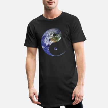 Yin yin and yang earth - Männer Longshirt