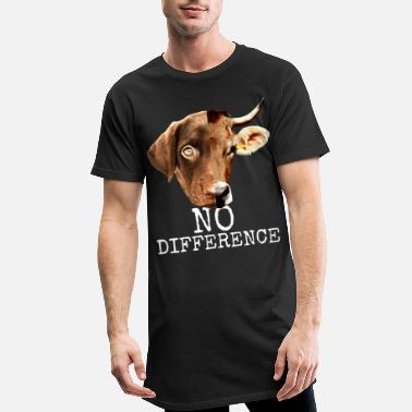 Difference No Difference Pro Vegan vegetarian animal welfare - Men's Long T-Shirt