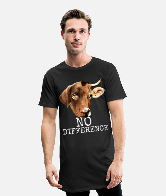 Animal Welfare T-Shirts - No Difference Pro Vegan vegetarian animal welfare - Men's Long T-Shirt black