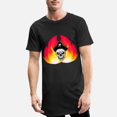 Buccaneer Fantasy pirate skull buccaneer - Men's Long T-Shirt