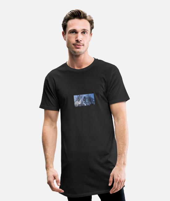 Skies T-Shirts - Design outdoor - Men's Long T-Shirt black