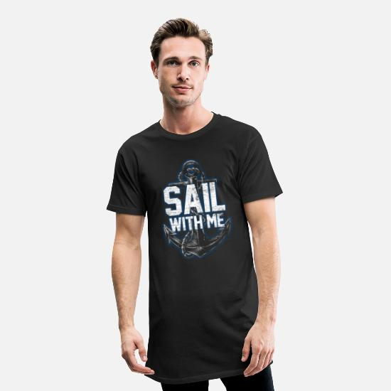 Waves T-Shirts - Sailing experience - Men's Long T-Shirt black
