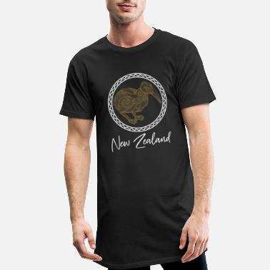 New New Zealand land - Lang T-Shirt mænd