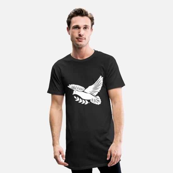 Pigeon T-shirts - colombe - T-shirt long Homme noir
