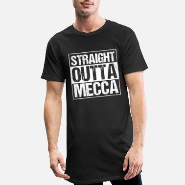 Muslimting Straight Outta Mecca Hajj Islam Muslim Mosque Gift - Lang T-Shirt mænd