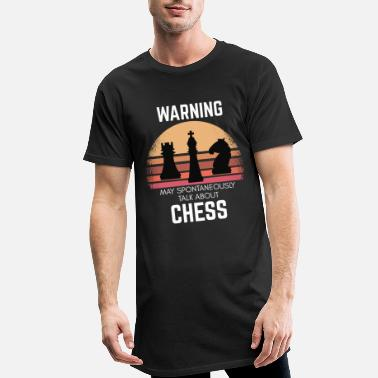 Chess player saying chess pieces sunset - Men's Long T-Shirt