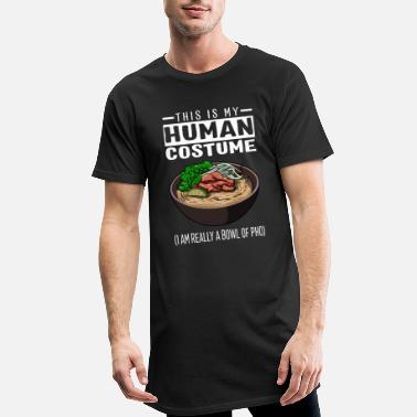 Pho This Is My Human Costume I'm Really A Bowl Of Pho - Men's Long T-Shirt