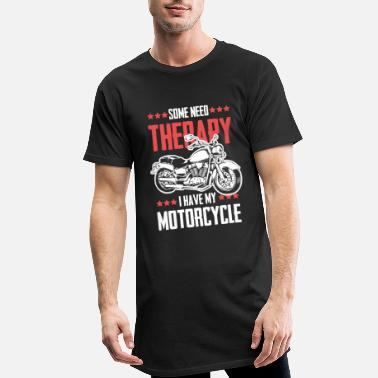 Funny Motorcycle therapy funny saying - Men's Long T-Shirt