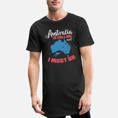 Pajamas Australia is Calling and I Must Go - Men's Long T-Shirt