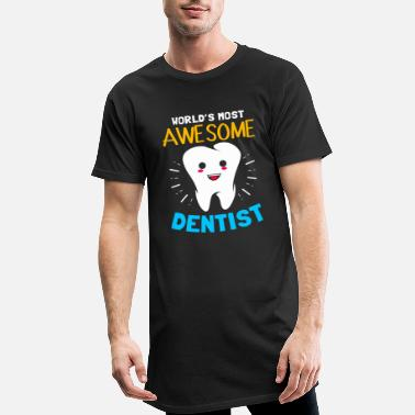 Cadeau Dentiste Dentiste Dentisterie Dent - T-shirt long Homme