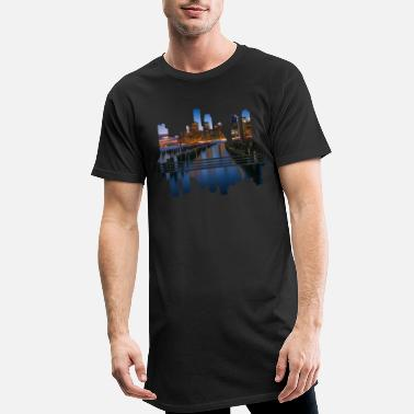 Megacity Megacity Skyline by Night - Men's Long T-Shirt