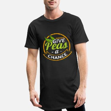 Meat-free Meat Free Give Peas a Chance - Men's Long T-Shirt