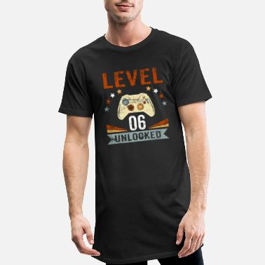 Unlocked 6th Birthday Gamer Gambler Play Gift - Men's Long T-Shirt