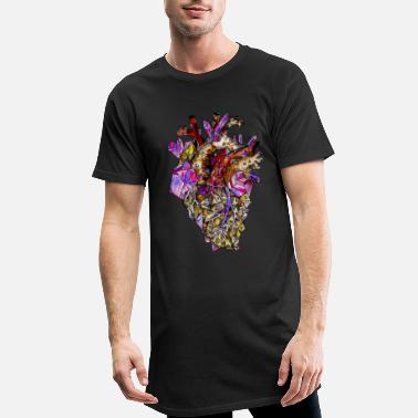 Gothic The Creepy Crystal Heart - Men's Long T-Shirt