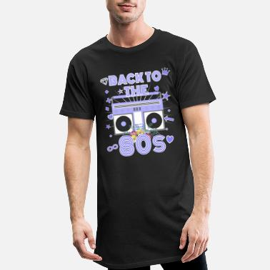 Outfit Back to the 80s 80er Jahre Radio Motto Outfit - Männer Longshirt
