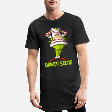 Grinch Bli Grinch, Party Grinchmas - Lang T-skjorte for menn
