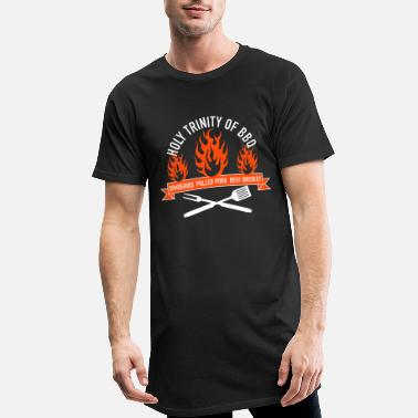 Saucisse Grillée Holy Trinity of BBQ - T-shirt long Homme