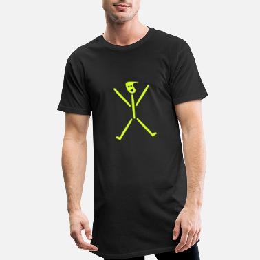 Stick stick figure - Men's Long T-Shirt