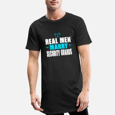 Resistance Real men marry: Security Guard - Men's Long T-Shirt