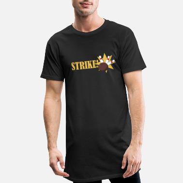 Recreational Bowling Strike T-Shirt - Men's Long T-Shirt