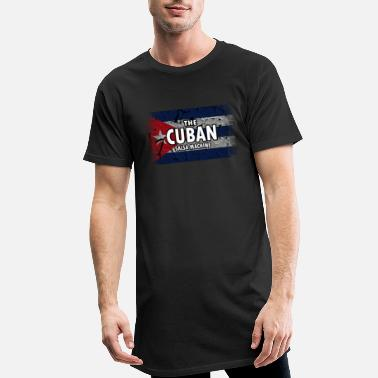 Cuban Cuba Flag. The Cuban Salsa Machine. Proud Cuban - Men's Long T-Shirt