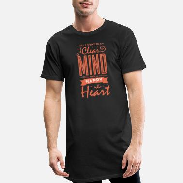 All Clear Clear Mind, Happy Heart - Männer Longshirt