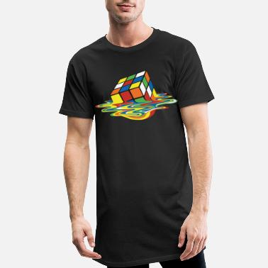 Rubik's Cube Melting Cube - Men's Long T-Shirt