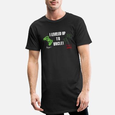 2021 I Leveled up to Uncle Funny Gamer Brother Promoted - Men's Long T-Shirt