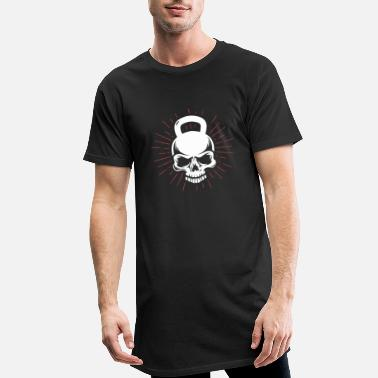 Workout Kettlebell Skull Fitness Workout Home Workout - T-shirt long Homme