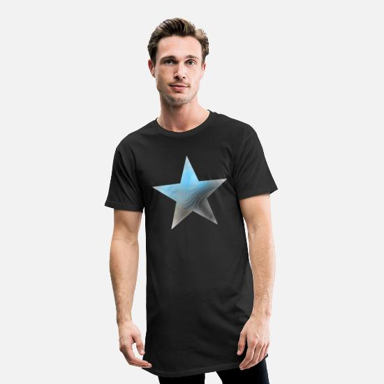 Starry Sky T-Shirts - Gaming star - premium gamer star - Men's Long T-Shirt black